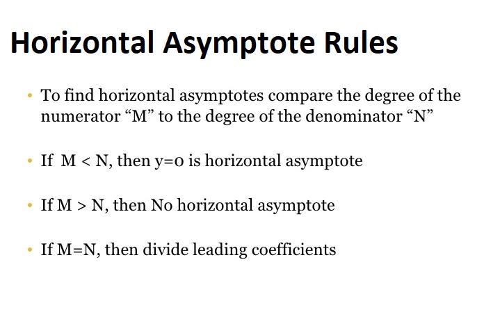 Horizontal Asymptote Rules